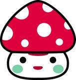 Funny mushroom. Cartoon character funny mushroom cute Royalty Free Stock Images