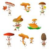 Mushroom cartoon character Stock Image