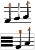 Funny music notes Stock Photos