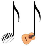 Funny music notes Royalty Free Stock Images