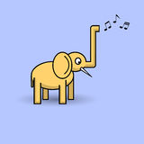 Funny musical elephant Stock Image
