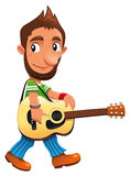 Funny musician royalty free stock image