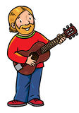 Funny musician or artist. Stock Images