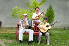 Funny musicians Royalty Free Stock Images