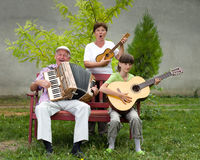 Funny musicians Royalty Free Stock Photo