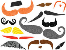 Funny Mustaches Set Royalty Free Stock Photos