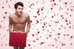 Funny naked man Stock Image