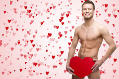Funny naked man Royalty Free Stock Photo