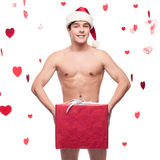 Funny naked young man Stock Image