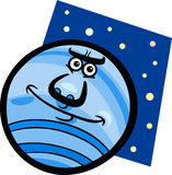 Funny neptune planet cartoon illustration Royalty Free Stock Photo