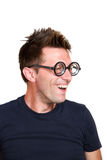 Funny nerd Stock Photography