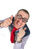 Funny nerd. Isolated on white background Royalty Free Stock Images