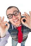 Funny nerd Royalty Free Stock Image