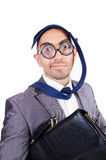Funny nerd royalty free stock photo