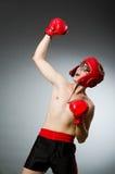 Funny nerd boxer Stock Photo