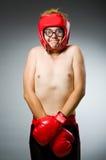 Funny nerd boxer Stock Photography