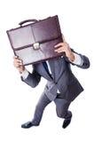 Funny nerd businessman. Isolated on white Royalty Free Stock Image