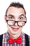 Funny nerd face Royalty Free Stock Image