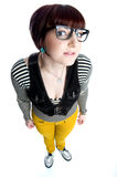 Funny nerd girl Royalty Free Stock Image