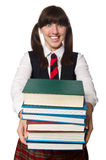 Funny nerd student isolated on white Stock Image
