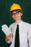 Funny nerdy engineer Stock Photos