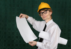Funny nerdy engineer Stock Images