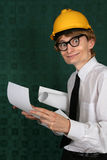 Funny nerdy engineer Royalty Free Stock Image