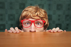 Funny nerdy guy royalty free stock image