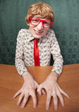 Funny nerdy guy Royalty Free Stock Images