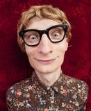 Funny nerdy guy Royalty Free Stock Photos