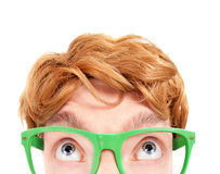 Funny nerdy guy Stock Photography