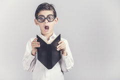 Funny nerdy little boy Royalty Free Stock Photo