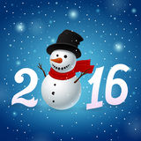 Funny New Year background Stock Image