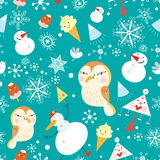Funny New Year's pattern Royalty Free Stock Photography