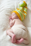 Funny newborn Stock Image