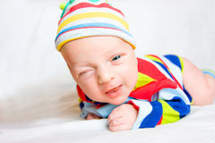 Funny Newborn Baby Stock Photos