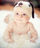 Funny newborn boy Stock Photo