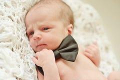 Funny newborn gentleman Royalty Free Stock Images