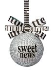 Funny newspaper bulb with ribbon and bow Royalty Free Stock Photo