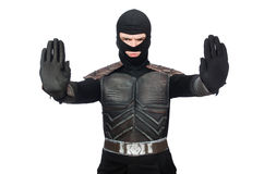Funny ninja isolated. On the white background royalty free stock photography