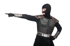 Funny ninja isolated Stock Images