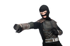 Funny ninja isolated Stock Images