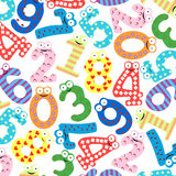Funny number background -Vector Royalty Free Stock Photography