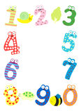 Funny number frame Royalty Free Stock Photo
