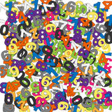 Funny numbers. Lot of numbers and lot of colours Stock Photo