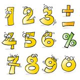 Funny numbers Royalty Free Stock Photo