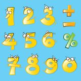 Funny numbers Stock Photography
