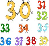 Funny numbers Royalty Free Stock Photos