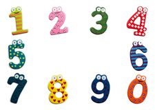 Funny numbers isolated on white background Stock Photography