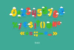 Funny numbers. These are funny numbers, punctuations. You can use for cartoon logos and short titles, children books and greeting cards. Created for the Royalty Free Illustration